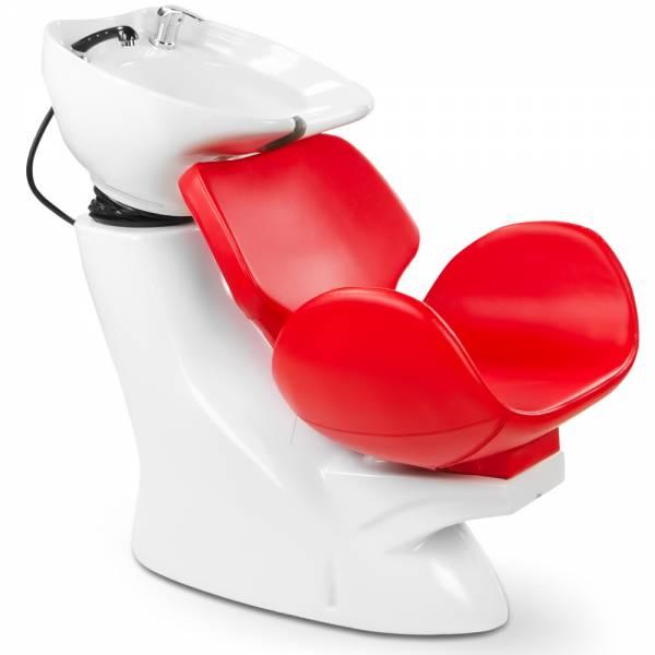 Friseurwaschsessel 256112 weiß / rot