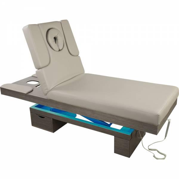 023815 Elektrische Massageliege Wellnessliege grau mit LED