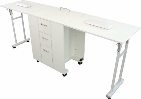 Manikürtisch weiß MT3903 Schreibtisch Klapptisch