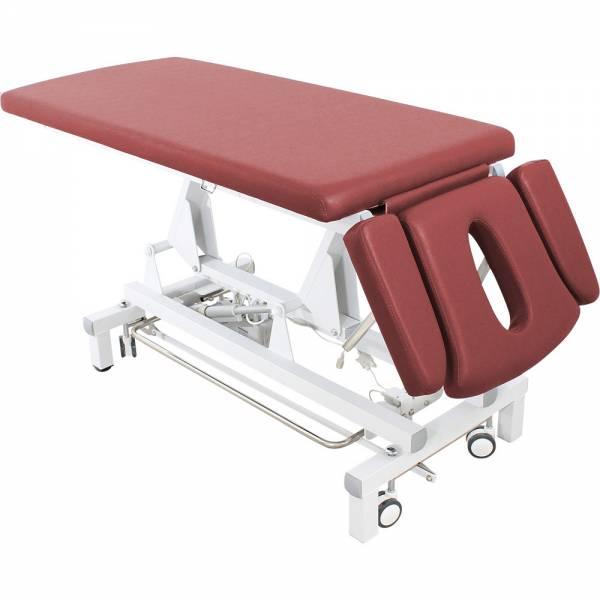 L6d807 Massageliege Behandlungsliege mit Rundumschalter weinrot