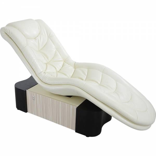 Relaxliege L30208c Wellnessliege weiß-braun Loungeliege