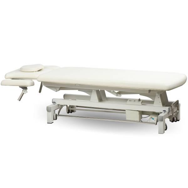 00d807 Massageliege Behandlungsliege weiß mit Rundumschalter
