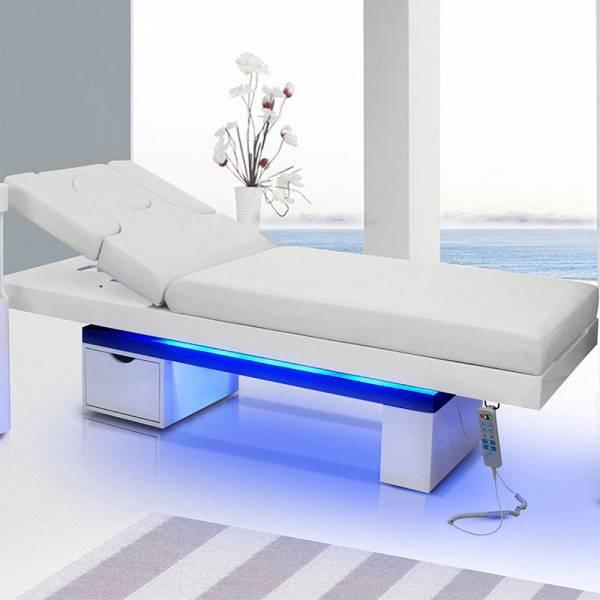 Elektrische Massageliege Wellnessliege 003815 Weiß