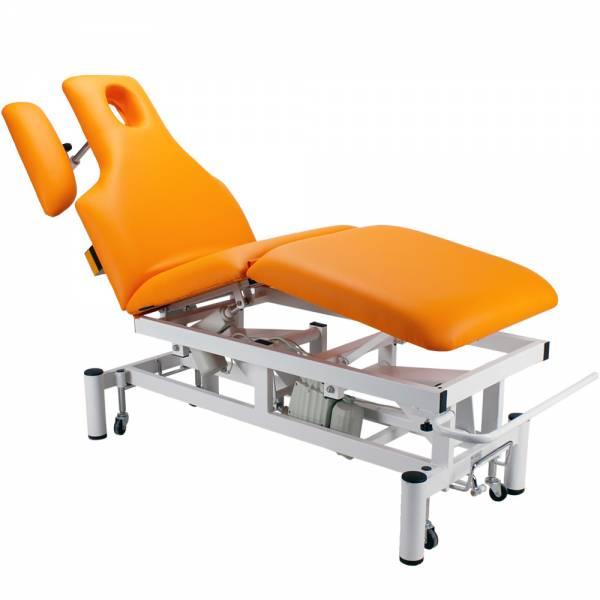 083707 orange vollelektrische Behandlungsliege
