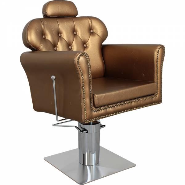 s5920 Friseurstuhl schwarz oder bronze mit verstellbarer Rückenlehne