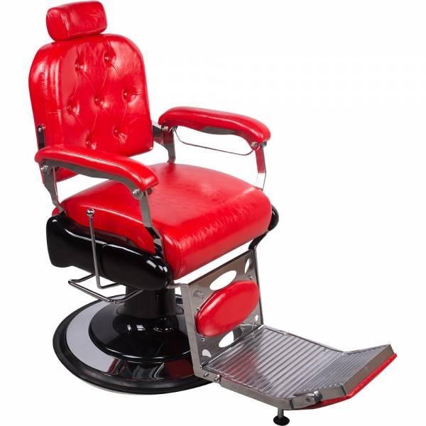 206023 Friseurstuhl Herrenstuhl rot