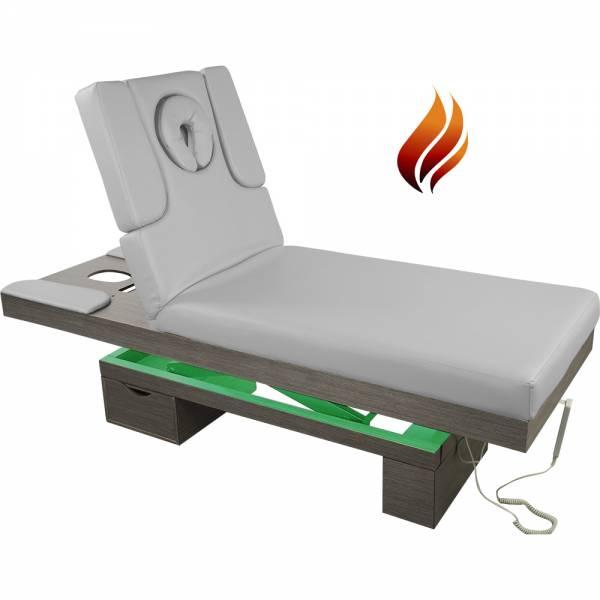 023815H Elektrische Massageliege Wellnessliege grau mit Heizung