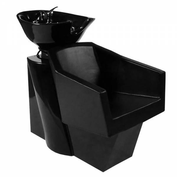 255429 Friseurwaschsessel Rückwärtswaschsessel schwarz