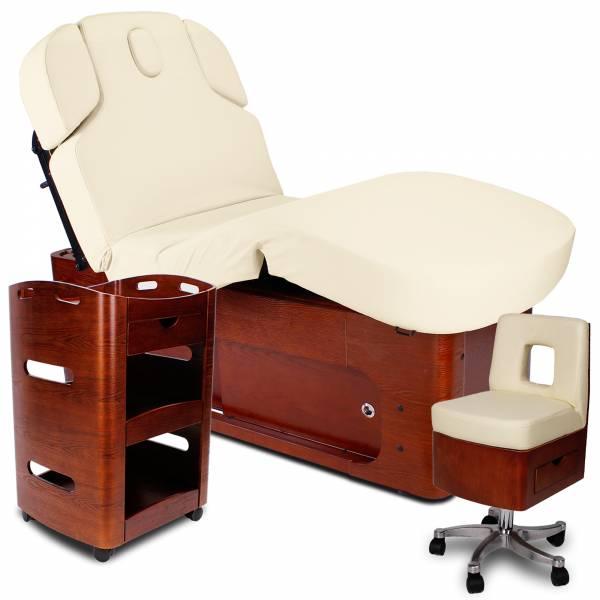 Kosmetikkabine-Massagekabine 933361 creme / braun