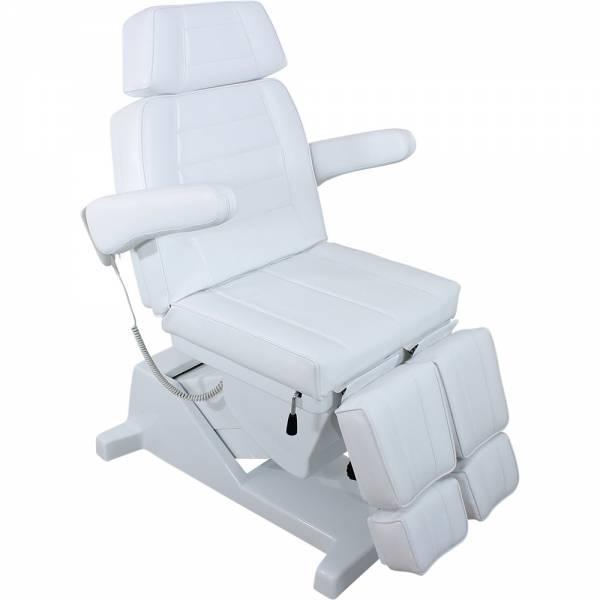 F0867-3a Fußpflegestuhl weiß mit 3 Motoren